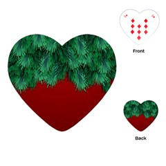 Xmas Tree Playing Cards (heart)