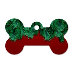 Xmas Tree Dog Tag Bone (one Side)