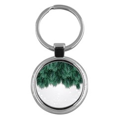 Snow And Tree Key Chains (round)