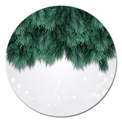 Snow And Tree Magnet 5  (round)