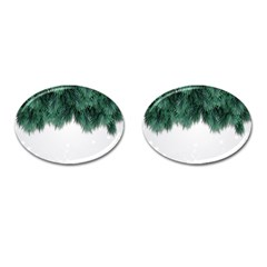 Snow And Tree Cufflinks (oval)