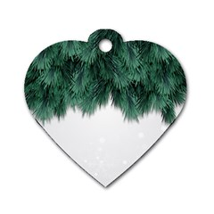 Snow And Tree Dog Tag Heart (two Sides)