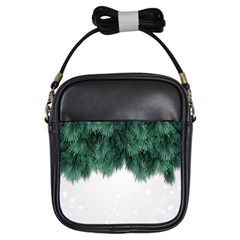 Snow And Tree Girls Sling Bags