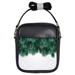 Snow And Tree Girls Sling Bags Front