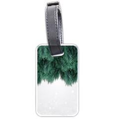 Snow And Tree Luggage Tags (one Side)