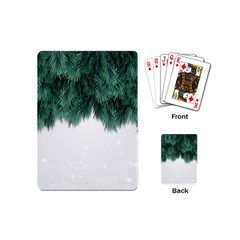 Snow And Tree Playing Cards (mini)
