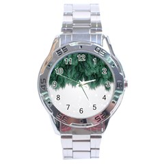 Snow And Tree Stainless Steel Analogue Watch