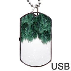 Snow And Tree Dog Tag Usb Flash (two Sides)