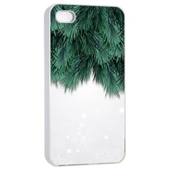 Snow And Tree Apple Iphone 4/4s Seamless Case (white)