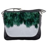 Snow And Tree Messenger Bags Front