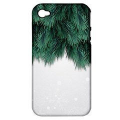 Snow And Tree Apple Iphone 4/4s Hardshell Case (pc+silicone)
