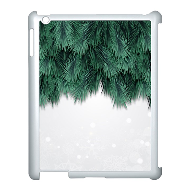 Snow And Tree Apple iPad 3/4 Case (White)
