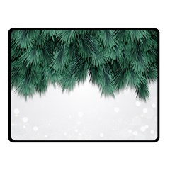 Snow And Tree Double Sided Fleece Blanket (small)