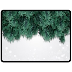 Snow And Tree Double Sided Fleece Blanket (large)