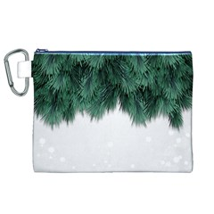 Snow And Tree Canvas Cosmetic Bag (xl)
