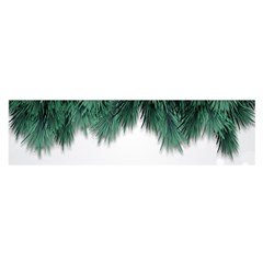 Snow And Tree Satin Scarf (oblong)