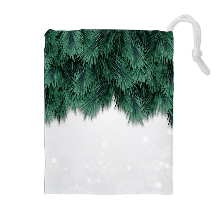 Snow And Tree Drawstring Pouches (Extra Large)