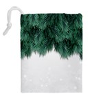 Snow And Tree Drawstring Pouches (Extra Large) Back