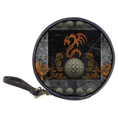 Awesome Tribal Dragon Made Of Metal Classic 20 Cd Wallets
