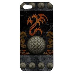 Awesome Tribal Dragon Made Of Metal Apple Iphone 5 Hardshell Case