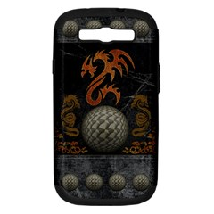 Awesome Tribal Dragon Made Of Metal Samsung Galaxy S Iii Hardshell Case (pc+silicone)