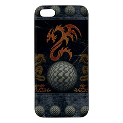 Awesome Tribal Dragon Made Of Metal Apple Iphone 5 Premium Hardshell Case