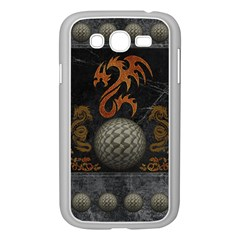 Awesome Tribal Dragon Made Of Metal Samsung Galaxy Grand Duos I9082 Case (white)