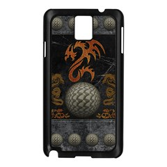 Awesome Tribal Dragon Made Of Metal Samsung Galaxy Note 3 N9005 Case (black)