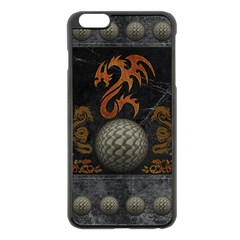 Awesome Tribal Dragon Made Of Metal Apple Iphone 6 Plus/6s Plus Black Enamel Case