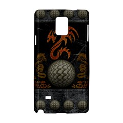 Awesome Tribal Dragon Made Of Metal Samsung Galaxy Note 4 Hardshell Case