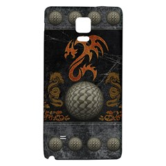Awesome Tribal Dragon Made Of Metal Galaxy Note 4 Back Case
