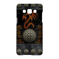 Awesome Tribal Dragon Made Of Metal Samsung Galaxy A5 Hardshell Case