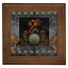 Awesome Tribal Dragon Made Of Metal Framed Tiles