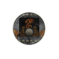 Awesome Tribal Dragon Made Of Metal Hat Clip Ball Marker (10 Pack)