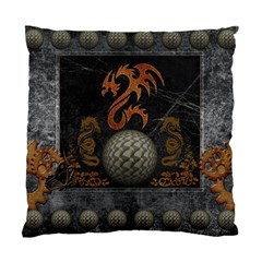 Awesome Tribal Dragon Made Of Metal Standard Cushion Case (one Side)