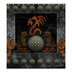 Awesome Tribal Dragon Made Of Metal Shower Curtain 66  X 72  (large)