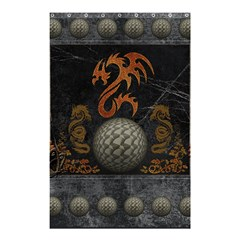 Awesome Tribal Dragon Made Of Metal Shower Curtain 48  X 72  (small)