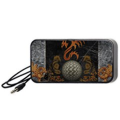 Awesome Tribal Dragon Made Of Metal Portable Speaker