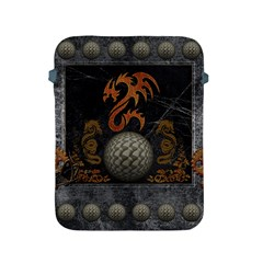 Awesome Tribal Dragon Made Of Metal Apple Ipad 2/3/4 Protective Soft Cases