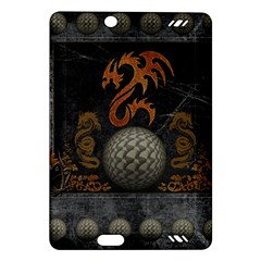Awesome Tribal Dragon Made Of Metal Amazon Kindle Fire Hd (2013) Hardshell Case