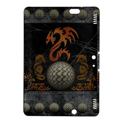Awesome Tribal Dragon Made Of Metal Kindle Fire Hdx 8 9  Hardshell Case