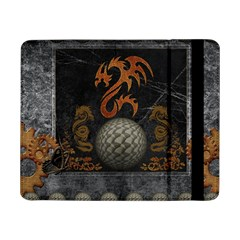 Awesome Tribal Dragon Made Of Metal Samsung Galaxy Tab Pro 8 4  Flip Case