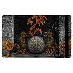 Awesome Tribal Dragon Made Of Metal Apple Ipad Pro 12 9   Flip Case