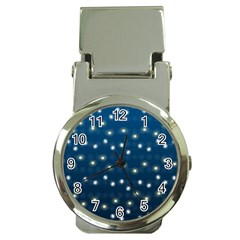 Christmas Light Blue Money Clip Watches
