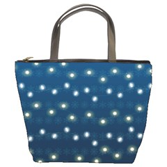 Christmas Light Blue Bucket Bags