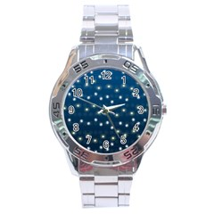 Christmas Light Blue Stainless Steel Analogue Watch