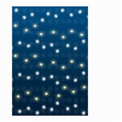 Christmas Light Blue Small Garden Flag (two Sides)