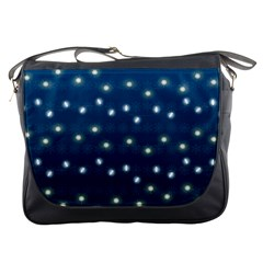 Christmas Light Blue Messenger Bags