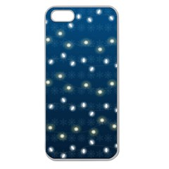 Christmas Light Blue Apple Seamless Iphone 5 Case (clear)
