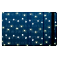 Christmas Light Blue Apple Ipad 3/4 Flip Case
